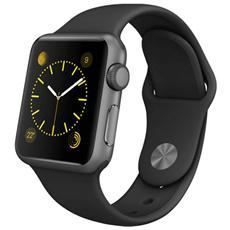 Cinturino WristBand in silicone per Apple Watch da 38mm - Nero
