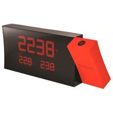 RMR221P Orologio con stazione meteorologica digitale Rosso / Nero RICONDIZIONATO