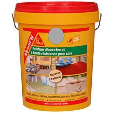 Pittura Per Pavimenti Monocomponente Sika Sikasol W - Grigio Cemento - 5l