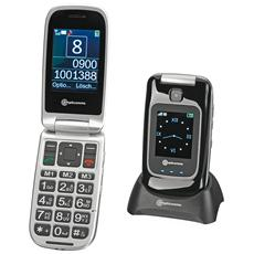 "PowerTel M7510-3G Senior Phone Dual Sim Display 2.4"" Micro SD Bluetooth con Tasti Grandi + SOS Fotocamera Colore Nero"