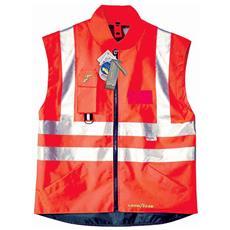 Gilet Alta Visibilità In Poliestere Oxford Traspirante Colore Rosso Taglia 2xl