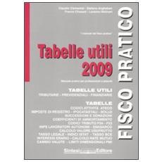 Tabelle utili 2009