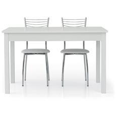 Tavolo clue 140x90 allungabile laccato bianco