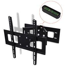 Supporto Tv 3d A Muro Inclinabile E Girevole Con Due Braccia 400 X Mm