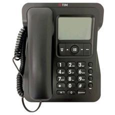 Sirio Telefono di Casa Classico Colore Nero-Tim Italia