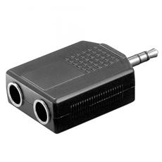 ADATTATORE AUDIO CONNETTORI 1 X 3,5MM. STEREO MASCHIO - 2 x 6,35MM STEREO FEMMINA