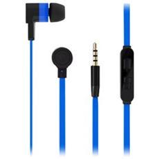 Icon Auricolare Stereo In-Ear con Microfono Cavo Piatto - PURO BLU