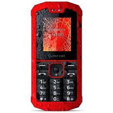 "Spider X1 Rosso Dual Sim Impermeabile Display 1.77"" +Slot MicroSD Bluetooth Fotocamera Torcia RadioFM - Europa"