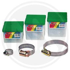 Fascetta Stringitubo Acc. inox L. 12mm. - 140x160mm. - 10pz.