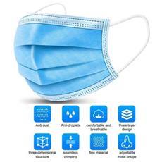 Mascherina protettiva ad alto potere filtrante monouso non sterile confezione 50 pezzi