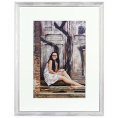 Aimee bianco 30x40 legno con Passepartout 80.063.02