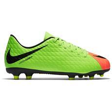 Scarpe Calcio Bambino Hypervenom Phade Iii Fg Arancio Verde 36
