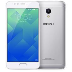 "M5S Argento 16 GB 4G / LTE Dual Sim Display 5.2"" HD Slot Micro SD Fotocamera 12 Mpx Android Italia"