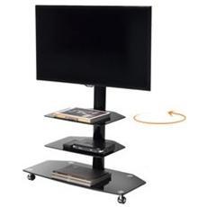 Mobile per TV in Metallo e Vetro Portata Max 30 kg colore Nero