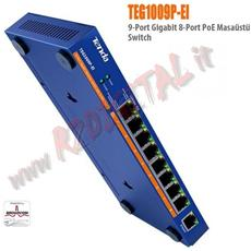 Poe Alimentatore Switch Teg1009p-ei Tenda 9 Porte Iniettore Server 100/1000 8 Poe+ Ethernet Sdoppiatore Giga Lan Gigabit