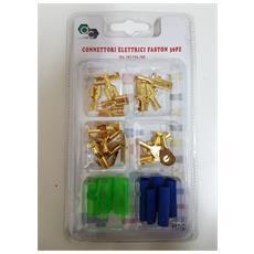 Kit 30 Pezzi Connettori Elettrici Faston 291-292/255-289 Occhielli Per Cavi Fili Isolatori