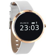 """Sportwatch Siona XW Fit Resistente all'Acqua Display 0.95"""" Bluetooth con Contapassi e Cardiofrequenzimetro Bianco - Europa"""