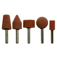 Mole Rotative Abrasive Assortite in serie 5 pezzi Ø Gambo 6 mm Poggi art. 399.00