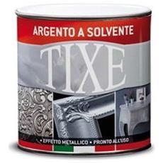 Vernice argento a solvente per interno 125ml.