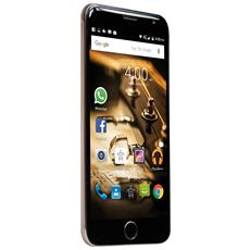 "PhonePad X532U Oro 16 GB 4G / LTE Dual Sim Display 5"" HD Slot Micro SD Fotocamera 13 Mpx Android Italia"