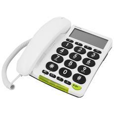 Phoneeasy 312cs Telefono Fisso Bianco Tasti Grandi Senior Aide Auditive