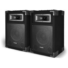 """Una Coppia Di Diffusori Passivi Suono Pa 8 """""""" / 20cm A 2 Vie Bass Reflex 2x180w Ibiza Star8b"""
