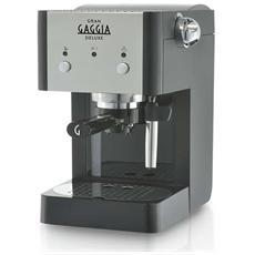 RI8425/11 Gran Gaggia Deluxe Macchina da Caffè Espresso Manuale Serbatoio 1 Litro Potenza 950 Watt Colore Nero