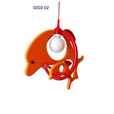 0202.02 Lampadario sospensione Delfin cameretta bambini 52cm x 32cm x max 85cm (regolabile)