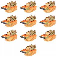 Cinghie d'Ancoraggio 10 pz a Cricchetto 4 T 8mx50mm Arancione