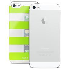 Custodia Iphone 5/5s / SE ''stripe'' Argento / verde