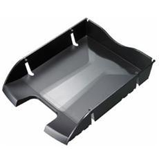confezione da 6 pezzi - vaschetta portacorrispondenza nero salvaspazio helit