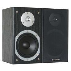 Coppia casse passive monitor Home Theatre Hi-Fi 140 Watt nere / silver