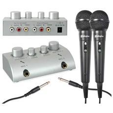 Mixer karaoke con 2 microfoni in regalo per creare effetto echo
