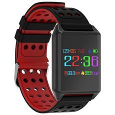 Smart Band R11 Activity Tracker Fitness Cardiofrequenzimetro Pressione Sanguigna Red
