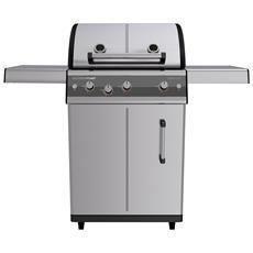 Barbecue A Gas Mod. Dualchef S 325 G Inox Con Fornello Laterale In Acciaio Inox Di Outdoorchef