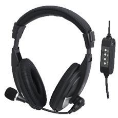 HS0019 Cuffie Stereo USB con Microfono - Nero