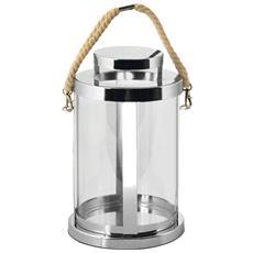Lanterna Inox Manico In Cotone Cm14x14xh23 Illuminazione