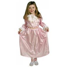 Costume Da Principessa Rosa 3-6 Anni