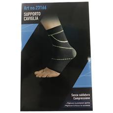 Protezione Caviglia Ambidestro Tallone Coperto 23166 Fascia Supporto Elastica Compressione Tutore Fitness