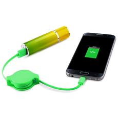 Powerbank Icon 2600mah Verde / Giallo