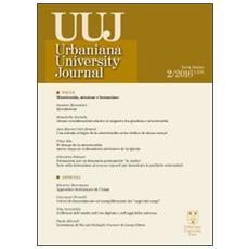 Urbaniana University Journal. Euntes Docete (2016) . Vol. 2: Misericordia, missione e formazione.