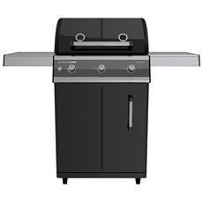 Barbecue A Gas Mod. Dualchef 315 G Colore Nero Opaco Di Outdoorchef