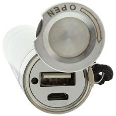 01470, Ioni di Litio, USB, Acciaio inossidabile, USB, Metallo, Universale