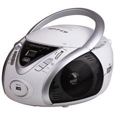 Stereo Portatile Boombox Cd Mp3 Cmp 542 Usb Bianco