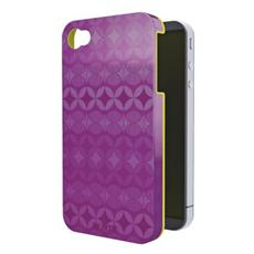Cover Retro Chic per iPhone 4/4S Colore Viola / Giallo
