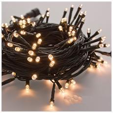 Filo 400 luci Led bianco caldo filo verde per albero di Natale controller 8 funzioni