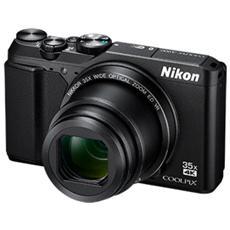 """Coolpix A900 Nero Sensore CMOS 20 Mpx Zoom ottico 35x Display 3"""" Filmati Ultra HD 4K Wi-Fi Bluetooth"""