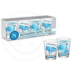 Ssc Calcio Napoli Set Da 4 Bicchierini (shot) Da Chupito Con Logo Napoli