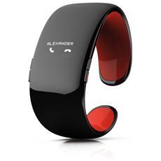 ZeBracelet 2 con Bluetooth per Monitoraggio di AttivitàGiornaliera e Sonno Nero - Italia