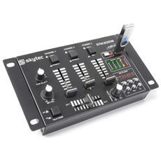 Mixer analogico con display 3 4 canali con lettore Mp3 tramite USB e SD